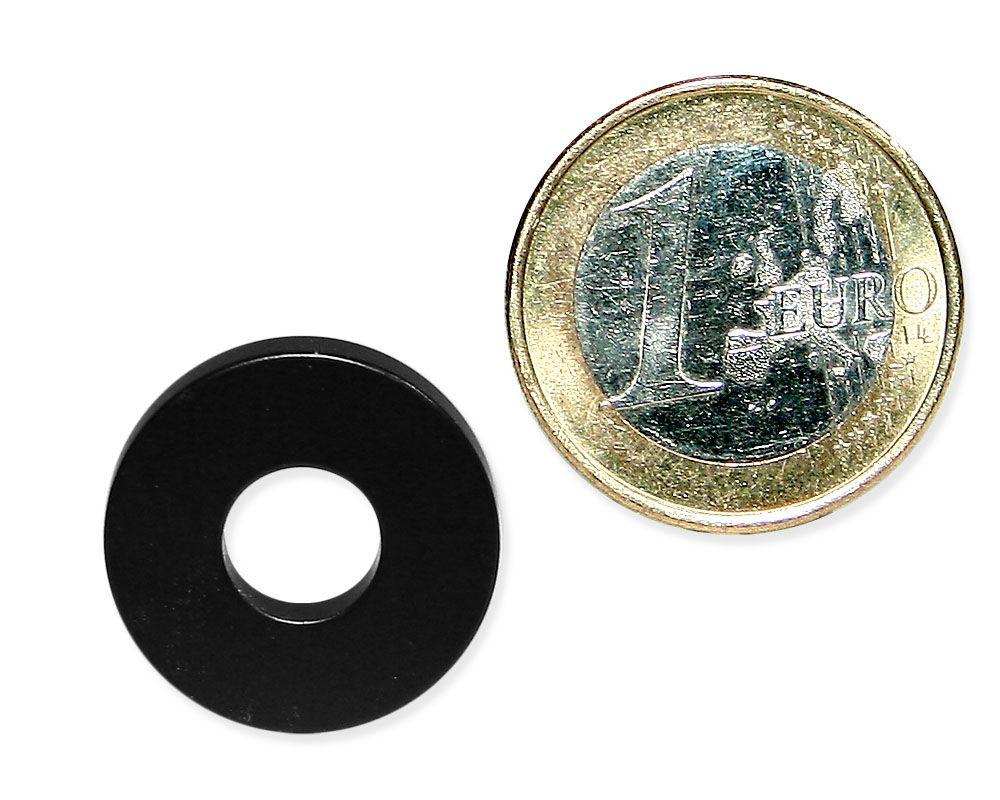 Ringmagnet Ø 20,0 x 8,0 x 4,0 mm Neodym N35 Epoxidharz - hält 7,0 kg