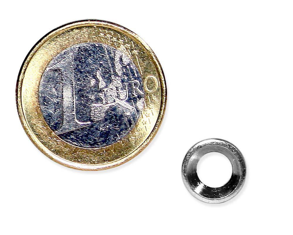 Metallscheibe Ø 10 mm mit Bohrung und Senkung verzinkt