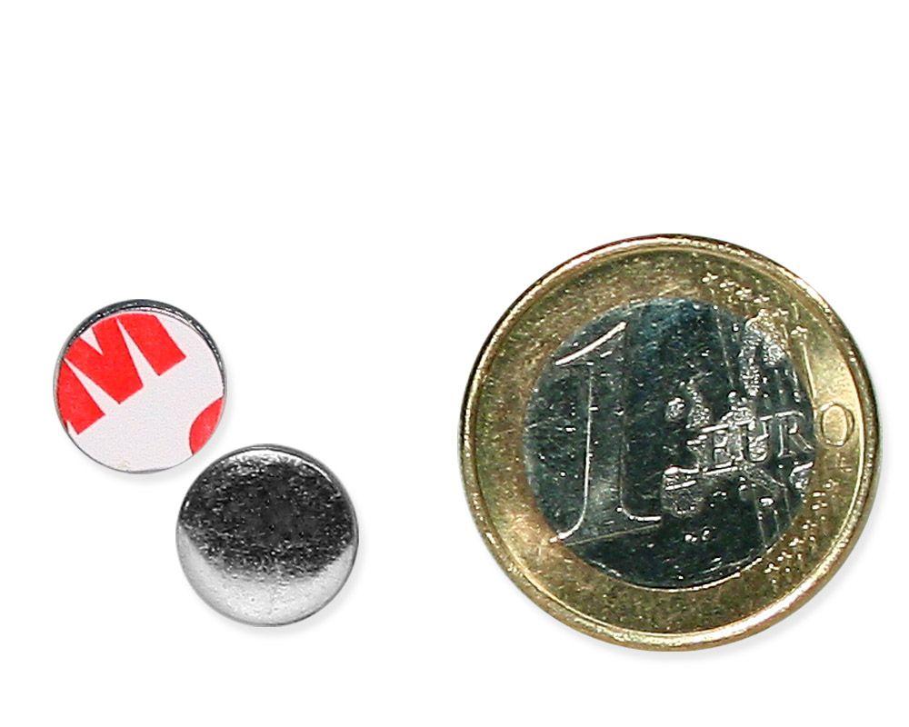 Metallscheibe Ø 10 mm selbstklebend verzinkt