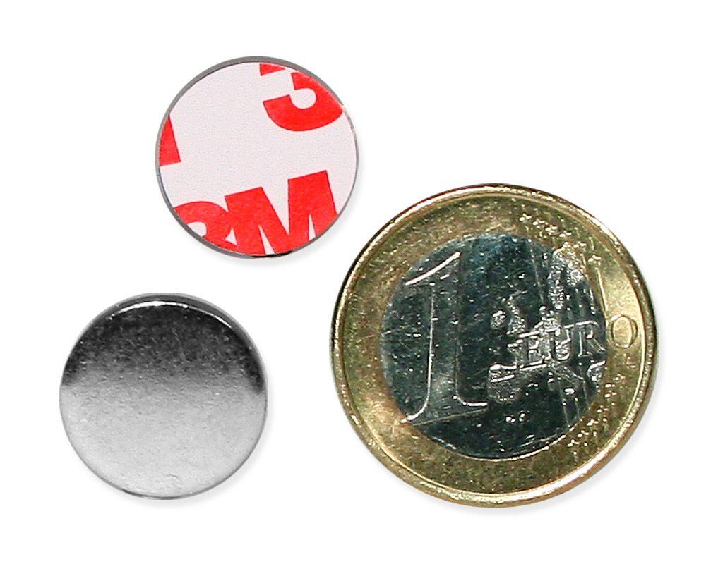 Metallscheibe Ø 15 mm selbstklebend verzinkt
