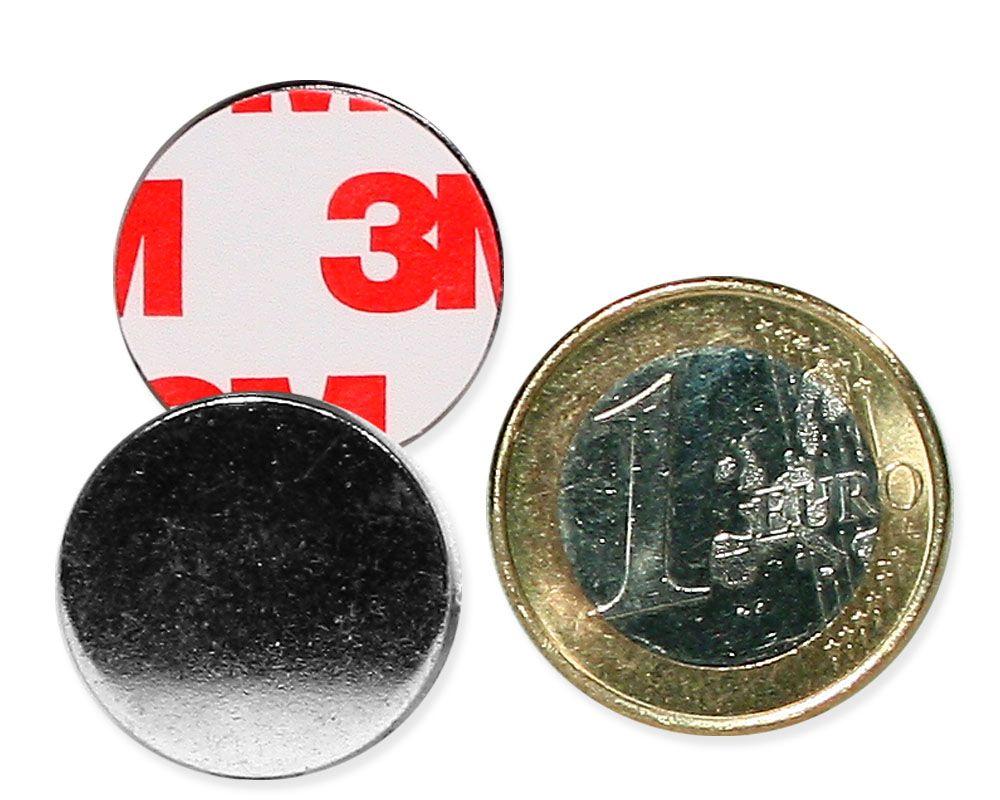 Metallscheibe Ø 20 mm selbstklebend verzinkt