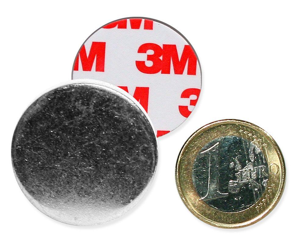 Metallscheibe Ø 30 mm selbstklebend verzinkt