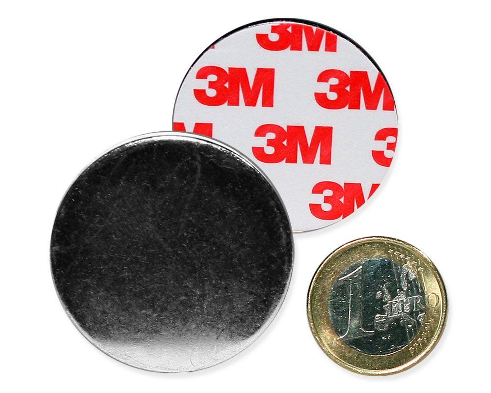 Metallscheibe Ø 40 mm selbstklebend verzinkt