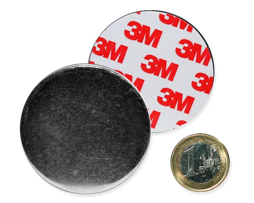 Metallscheibe Ø 50 mm selbstklebend verzinkt