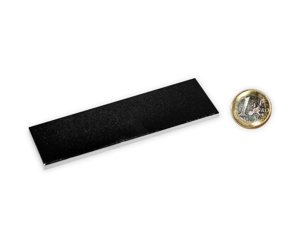 Quadermagnet 100,0 x 25,0 x 3,0 mm Neodym N45 vernickelt - hält 8,5 kg