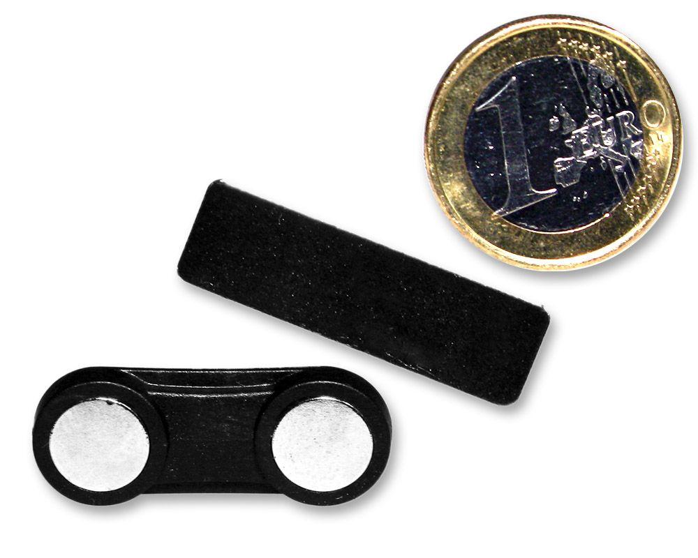 Magnetbefestigung für Namensschild   Visitenkartenmagnet 33 x 13 mm