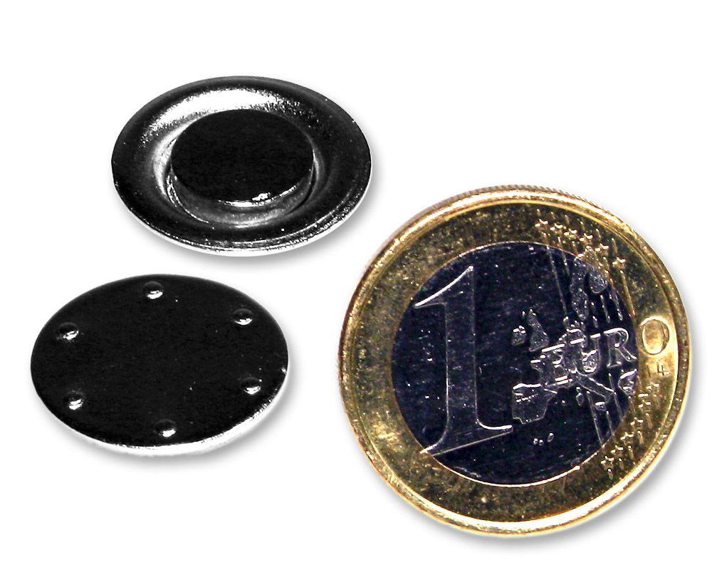 Magnetbefestigung für Namensschild | Visitenkartenmagnet rund Ø 17 mm
