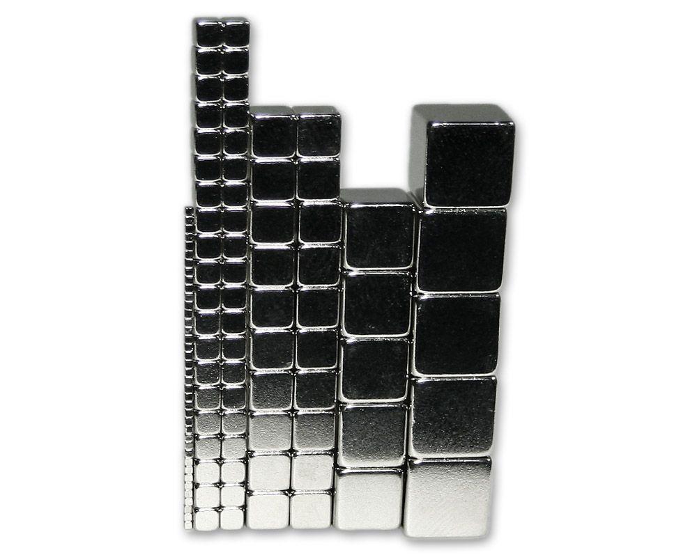 Kleines Neodym Würfelmagnete Set für Bastler (110 Magnete)
