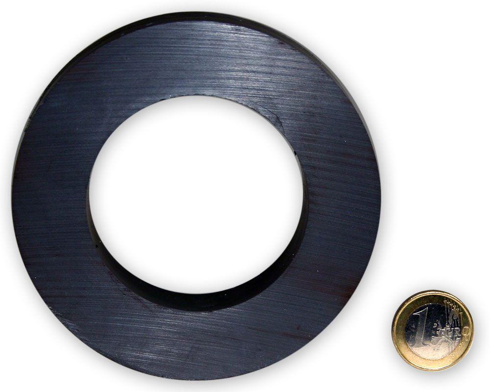 Ringmagnet Ø 100,0 x 60,0 x 20,0 mm Y35 Ferrit - hält 17,0 kg