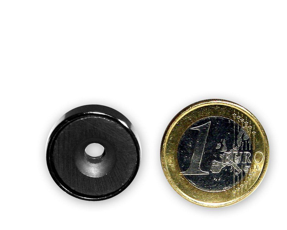 Ferrit Flachgreifer mit Senkung Ø 20,0 x 6,0 mm hält 2,7 kg