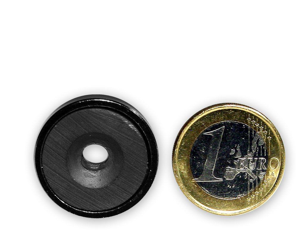 Ferrit Flachgreifer mit Senkung Ø 25,0 x 7,0 mm hält 3,8 kg