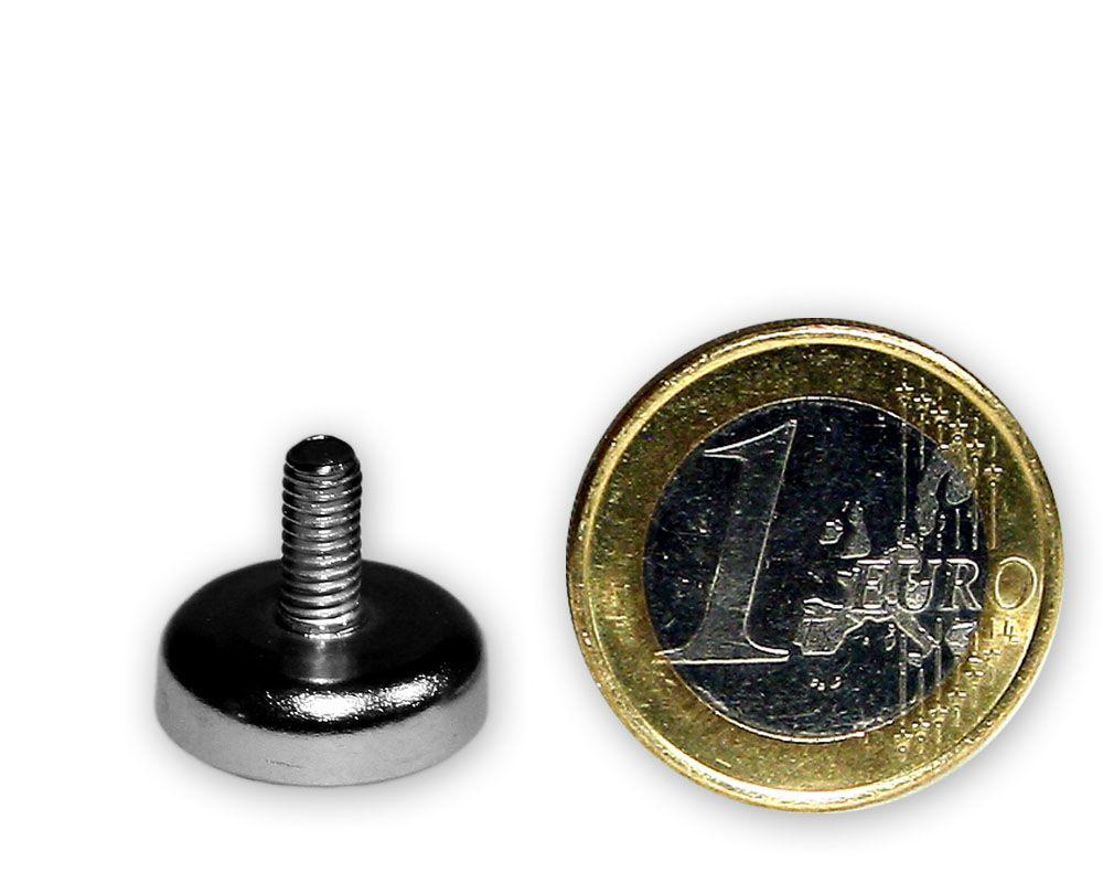 Ferrit Flachgreifer mit Gewinde Ø 16,0 x 5,0 mm M4 hält 1,9 kg