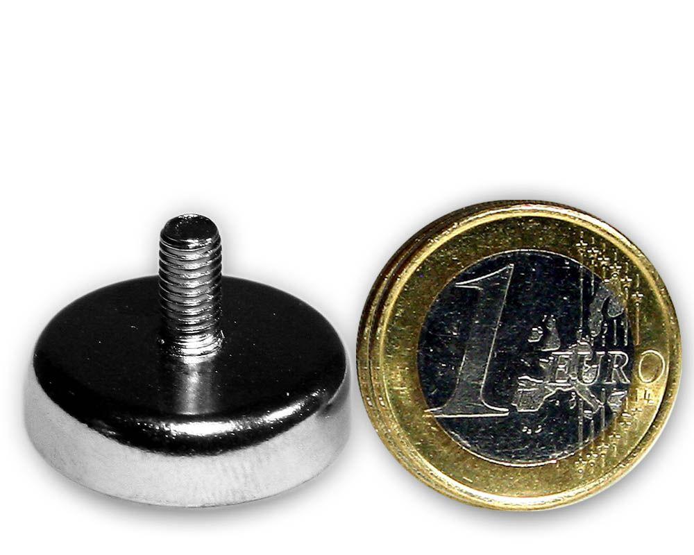 Ferrit Flachgreifer mit Gewinde Ø 25,0 x 7,0 mm M5 hält 4,3 kg