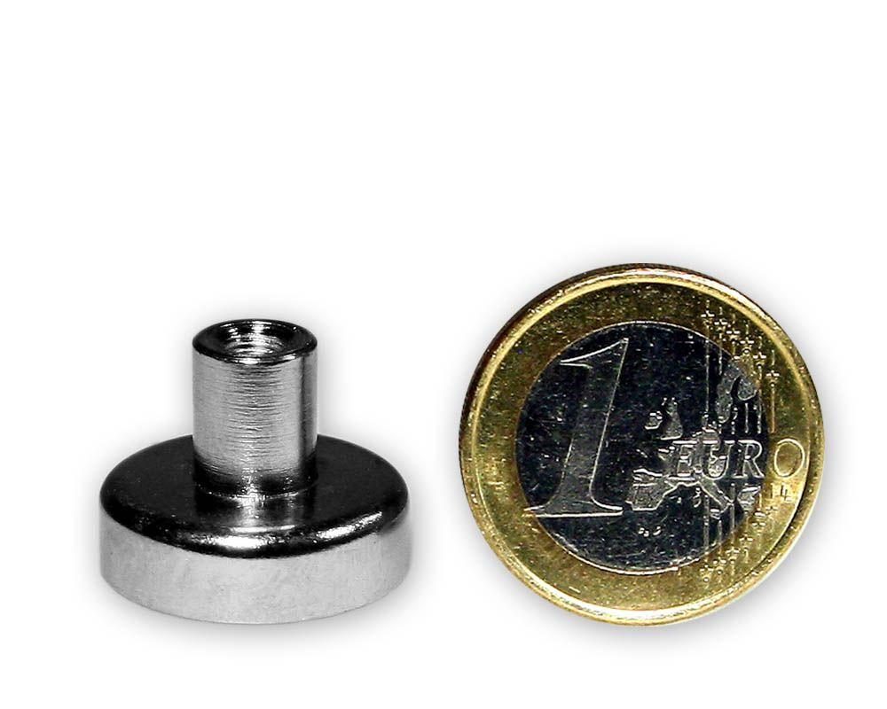 Ferrit Flachgreifer mit Buchse Ø 20,0 x 7,0 mm M4 hält 3,4 kg