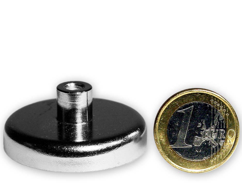 Ferrit Flachgreifer mit Buchse Ø 40,0 x 9,0 mm M5 hält 13,6 kg
