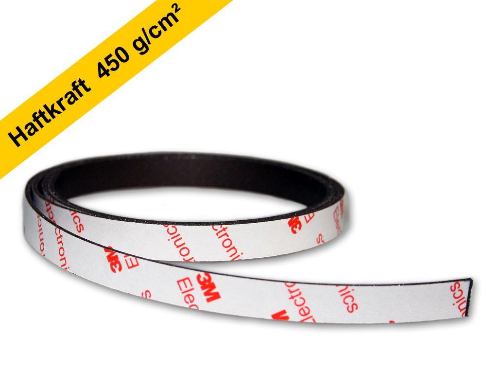 Neodym Power-Magnetband 1000 x 10,0 x 1,5 mm - selbstklebend