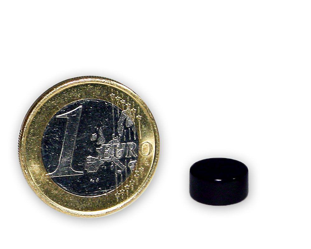 Scheibenmagnet Ø 10,0 x 5,0 mm Neodym N45 Teflon - hält 3,2 kg