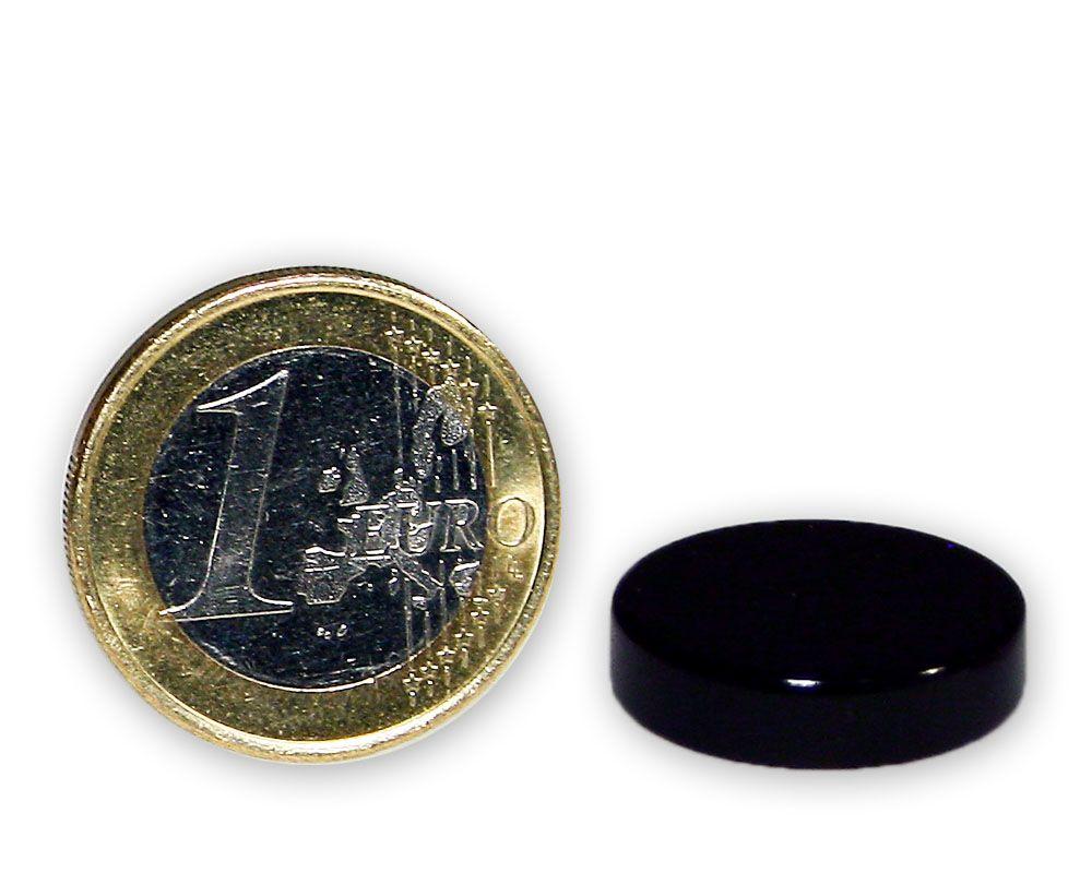 Scheibenmagnet Ø 20,0 x 5,0 mm Teflon N45 - hält 6,8 kg