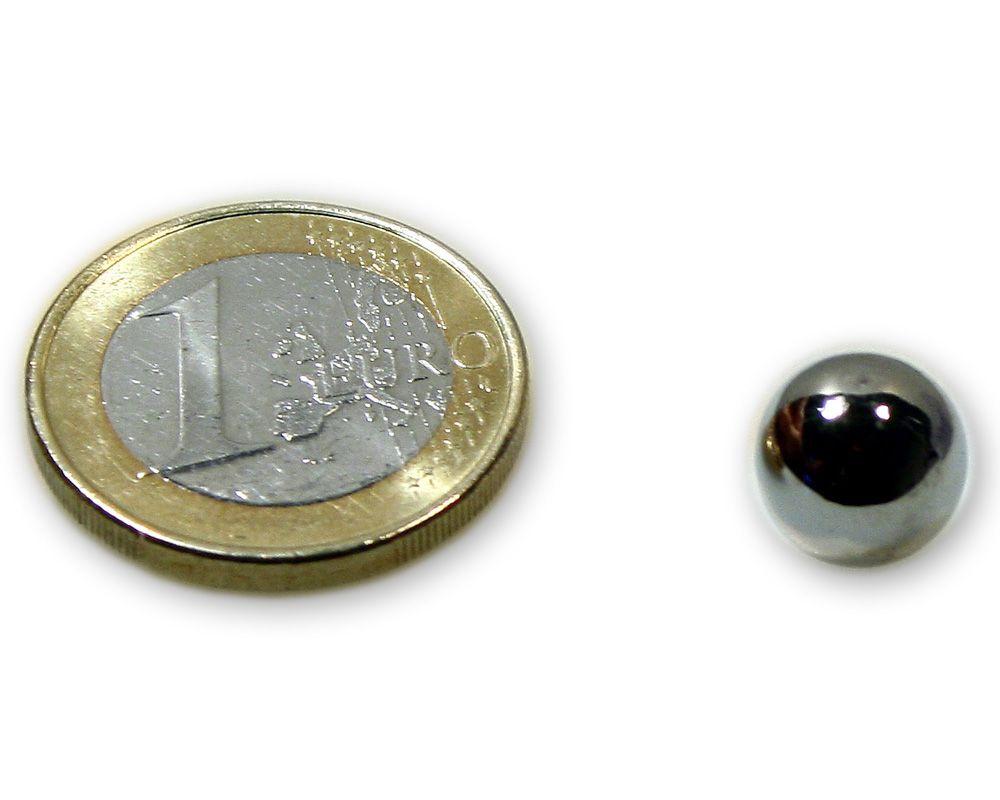 Stahlkugel Ø 10,0 mm vernickelt ferromagnetisch (kein Magnet)