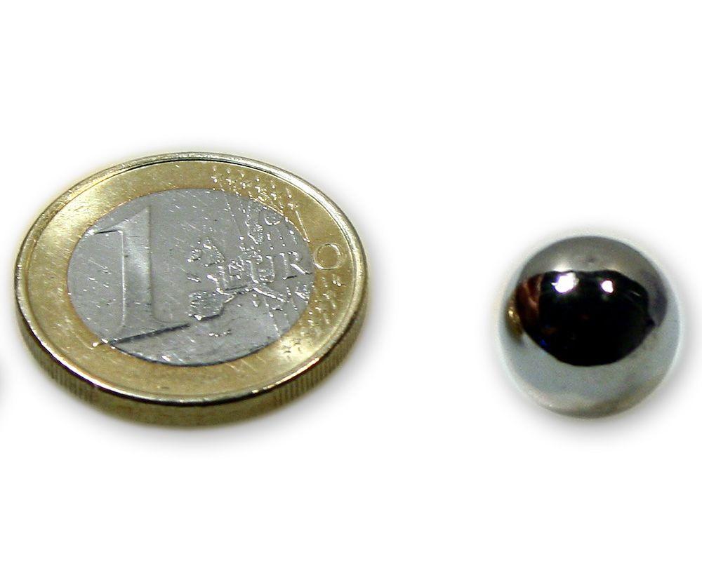 Stahlkugel Ø 15,0 mm vernickelt ferromagnetisch (kein Magnet)