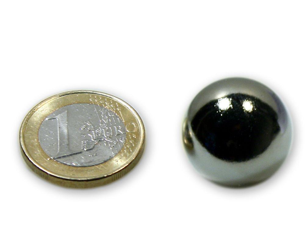 Stahlkugel Ø 20,0 mm vernickelt ferromagnetisch (kein Magnet)