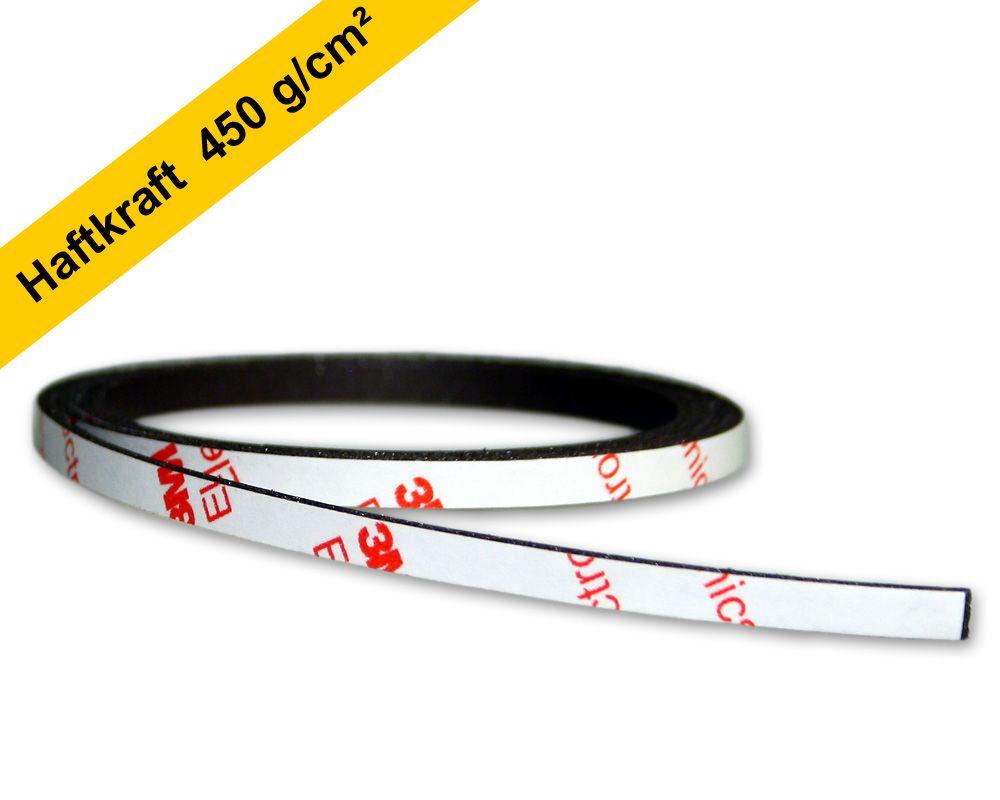 Neodym Power-Magnetband 1000 x 5,0 x 1,5 mm - selbstklebend