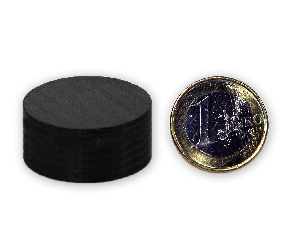 Scheibenmagnet Ø 30,0 x 15,0 mm Y30 Ferrit - hält 3,0 kg