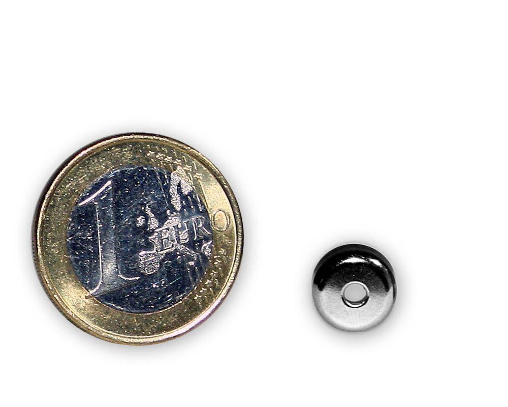 Neodym Flachgreifer mit Senkung Ø 10 x 4,5 mm hält 1,3 kg