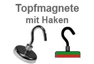 Flachgreifer-Topfmagnete mit Haken
